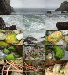 MATTHEW CHASE-DANIEL - Mouth of Partington Creek, Big Sur, California, photograph, collage