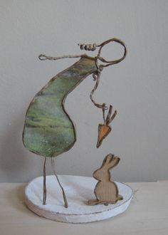 Fée de papier - Le lapin - Technique by epistyle.blogspot.fr