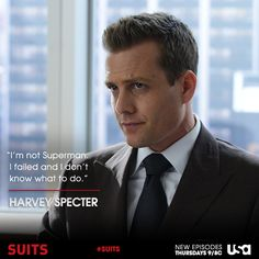 It's always sad when, in those rare moments, Harvey doubts himself