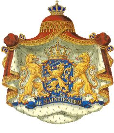The new coat of arms for the House of Orange when King Willem-Alexander and Queen Consort Maxima ascend the throne
