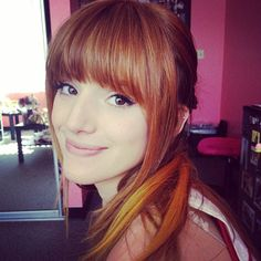 bella thorne new twitter photos | to change up her hair! She showed off new color streaks on Twitter ...