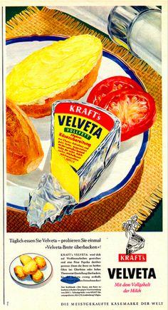 Kraft Velveta vintage ad
