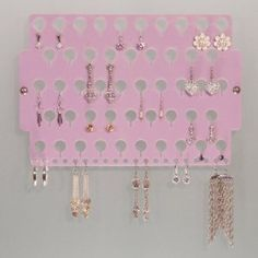 Wall Mount Earring Holder Storage Rack Earring Angel Hanging Jewelry Organizer Display 7 Colors Available (Purple) (Kitchen)  http://www.1-in-30.com/crt.php?p=B001VWRHXO  B001VWRHXO