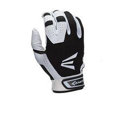 Easton HS3 Batting Gloves, White/Black, Medium | shopswell