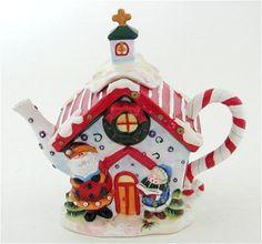 Christmas China, Christmas Dishes, Christmas Tea, Holiday, Tea Cup Saucer, Tea Cups, Teapots Unique, Vintage Teapots, Tea Pot Set