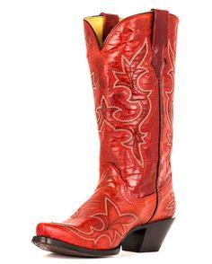 Women's Desert Red Goat Leather Boot - R1952