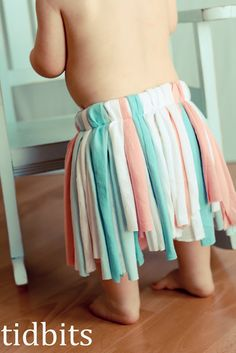 Tidbits  turned an a couple old t-shirts into a fun tutu for her daughter! Love this idea and I love how it was made! This would be so mu...