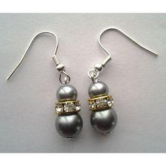 Grey Pearl Earrings, Small Drop Earrings, Fashion Earrings, Casual Earrings - Online Shopping for Earrings by Dhee Jewels