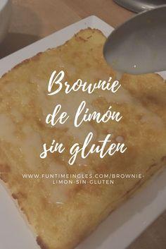 Riquísimo brownie de limón sin gluten! Receta e instrucciones en el blog! Brownies, Gluten Free Recipes, Healthy Recipes, Pan Dulce, Brownie Cupcakes, Vegan Vegetarian, Sweet Recipes, Dairy Free, Food And Drink