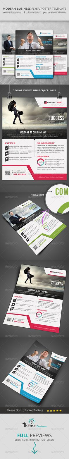 Modern Business Flyer/Poster Template for modern business promotion. http://graphicriver.net/item/modern-business-flyerposter-template/8584691?ref=themedevisers