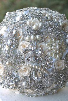 Crystal Brooch Bouquet.