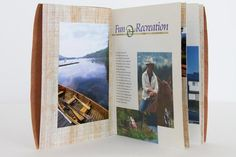 Tennessee Travel Brochure Brochure designed by Lauren Griffin. This brochure highlights some of experiences in a binding that reflects the organic nature of traveling in Tennessee