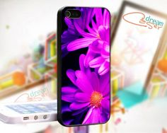 Purple Pink Flowers Custom - design for iPhone 5 Black case | DreamCase - Accessories on ArtFire
