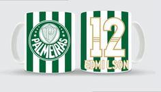 Caneca Palmeiras Personalizada de Time. Caneca personalizada verde e branco com numero e nome, imitando a camisa do seu time do seu coração, também temos de outros times. Personalizamos canecas com fotos, times, nomes e etc.
