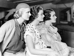 (L to R) Ann Harding,  Myrna Loy, Alice Brady