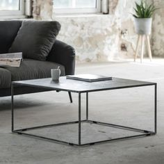 Coffee table cover in anthracite metal square - Couchtisch - Living Room Table Marble Tables Living Room, Garden Coffee Table, Marble Tables Design, Table, Table Covers, Coffee Table Cover, Ikea Living Room, Glass Coffee Table, Coffee Table