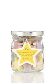 Mini Handmade Star Soap In A Jar