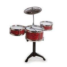 Westminster Desktop Drum Set, Random Color: Fun desk accessory 2 - inch tom toms, 6 inch tom tom, metal cymbal, 2 -plastic drumsticks & plastic stand Age 8 and Up. No tools required. Drummer Gifts, Musician Gifts, Cool Desk Gadgets, Musical Toys For Kids, Kids Toys, Best Drums, John Bonham, Secret Santa Gifts, Unusual Gifts