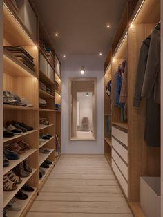 walk-in closet design for apartment Wardrobe Room, Walk In Wardrobe, Closet Bedroom, Closet Space, Bedroom 2018, Attic Closet, Bedroom Storage, Master Bedroom, Garage Attic