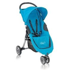 Baby Jogger's City Micro stroller in Ocean. Victor's Stroller. Would die without it. You close it with one hand WHILE you can still hold your baby in your arms.