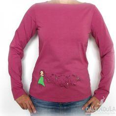 camiseta pelo al viento fucsia - Calendula