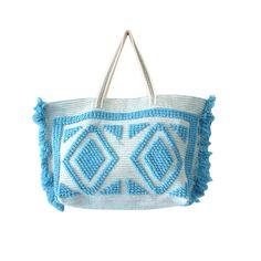 Coral Blue Hobo Bag