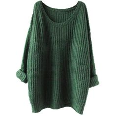 Asher Women's Casual Unbalanced Crew Neck Knit Sweater Loose Pullover... ($18) ❤ liked on Polyvore featuring tops, cardigans, green cardigan, loose cardigan, crewneck pullover, crewneck cardigan and crew neck pullover