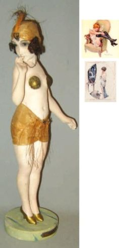 maurice milliere 20's flapper figure (please follow minkshmink on pinterest)