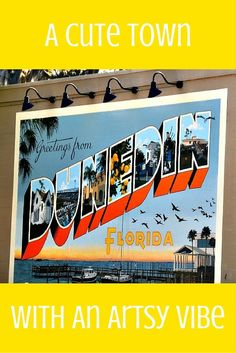 I love exploring Dunedin Florida very close to Tampa and Clearwater. This town is quaint and cute with a very big art offering. Have you ever visited? Places In Florida, Visit Florida, Florida Vacation, Florida Travel, Florida Beaches, Travel Usa, Palm Harbor Florida, Travel Tips, Dunedin Florida