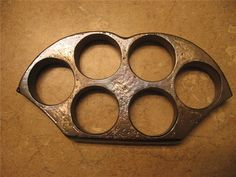 rare reversible brass KNUCKLE KNUCKLES 6 HOLE