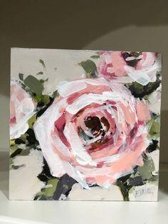 Flower Canvas Art, Flower Art, Canvas Wall Art, Diy Canvas, Oil Painting Flowers, Abstract Flowers, Paint Flowers, Abstract Art, Star Wars Wall Art