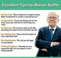 Financial planning from Warren Buffet! Financial planning from Warren Buffet! Financial Literacy, Financial Tips, Financial Planning, Financial Peace, Financial Quotes, Money Tips, Money Saving Tips, Money Hacks, Cash Money