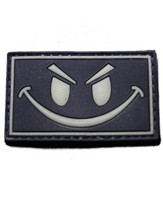 Glow in the Dark Smiley Face PVC Velcro Morale Patch SOGT http://www.amazon.com/dp/B00A8TCKR4/ref=cm_sw_r_pi_dp_ltwvub0CTAZBQ