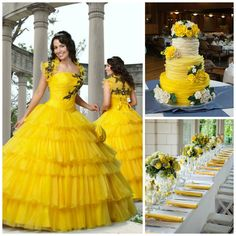 Summer Yellow Quince Theme   Quinceanera Ideas  
