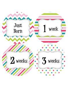 First Year Set Baby Month Stickers Monthly by MonthsinMotion, $14.00