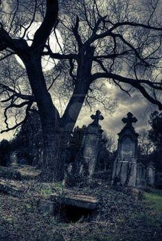 Arte, Arte Di Halloween, Morte, Immagini, Cimiteri, Arte Scuro, Vecchi Cimiteri, Corvo