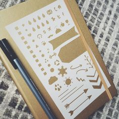 Essentials 2.0 Bullet Stencil for Bullet Journal par MooAndTheBoo