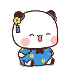 Cute Cartoon Pictures, Cute Images, Bear Gif, Cute Bear Drawings, Little Panda, Cute Bears, Cute Gif, Panda Bear, Cute Stickers