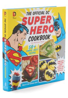 The Official DC Superhero Cookbook, #ModCloth lolololol. I don't really want this, but its just too funny not to pin.