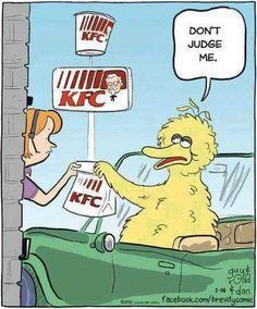 OMG! BWAAAHAHAHAHAHA!!!    #KFC #BigBird #DontJudgeMe