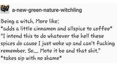 Witchy Tips & More: For Baby Witches & Broom Closet Dwellers - Witchy Humour pt. Wiccan Witch, Wicca Witchcraft, Magick, Mbti, Witch Meme, Baby Witch, Witch Broom, Modern Witch, Witch Aesthetic
