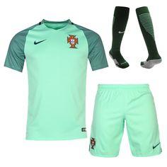 Portugal Jersey 2016/17 Away Soccer Shirt (Shirt+Shorts+Socks)