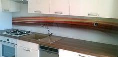 sklenená zástena do kuchyne - UV potlač