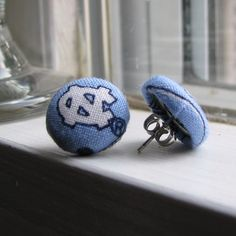 UNC Tarheels  Earrings by SweetAnnaCreations on Etsy, $7.00