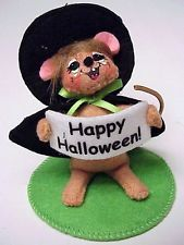 Annalee Halloween New for 2013 Mobility Doll Figure 3 inch Witch Mouse Laughing