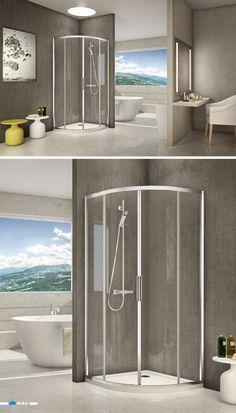 Shower enclosure stila 2000 shower-enclosure shower bathroom glass corner sliding doors