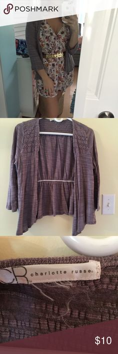 PURPLE CHARLOTTE RUSSE SWEATER Simple to throw on any outfit and perfect for the office. The tag is missing but it's a size medium. In great condition and from a smoke free environment. Any questions, please ask! Always happy to consider reasonable offers, just hit make an offer! Low balls offers will be ignored. Charlotte Russe Sweaters Shrugs & Ponchos