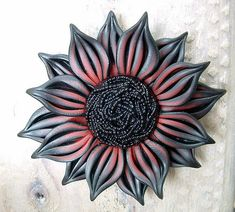 Black and Red Flower