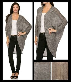 LOUNGING AROUND oversized cardigan in gray and mocha