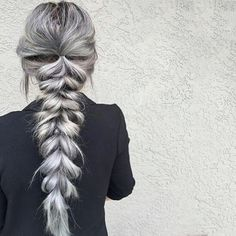 Love this Vibrant Silver braid done by @textursalon on herself! #overtone #braidstyles #salonstyles